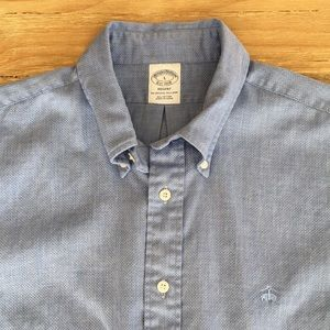 Brooks Brothers Regent Original Polo Blue Textured
